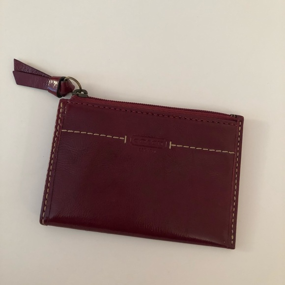 Coach leather card holder, like new